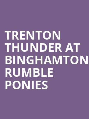 Trenton Thunder at Binghamton Rumble Ponies at Nyseg Stadium